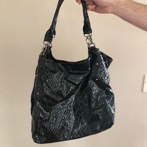 Pleather Python Big Buddha Bag